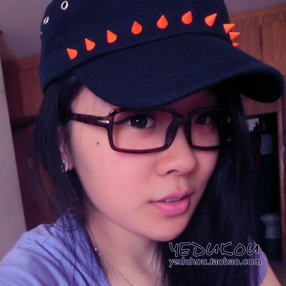 Fashion candy color rivet punk cotton cadet cap 100% neon color colorful hat outdoor casual cap