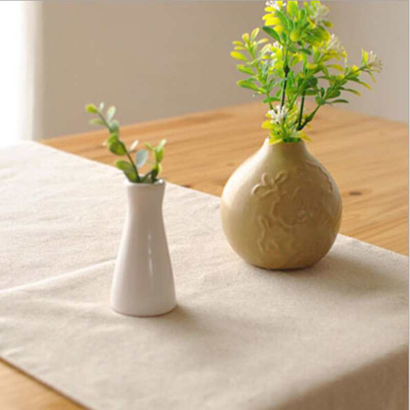 Modern Solid cotton table runner greywhite promation table runner for wedding hotel home party table decoration hot sale(China (Mainland))