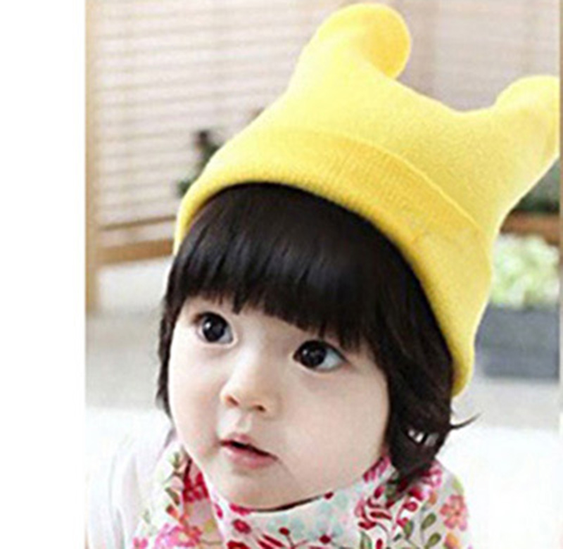 autumn baby hat cat ear hat knitted hats kids baby caps cotton hats Toddler Infant Caps Candy Color Beanies photo props W8(China (Mainland))