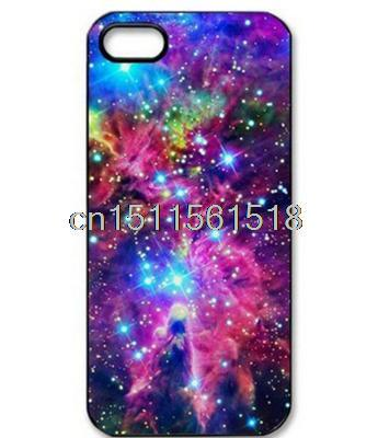 For Iphone 4 4S 5 5S 5C 6 Natural Space Universe Galaxy Cute Cute Custom Printed Hard Plastic Mobile Protector Case Cover(China (Mainland))