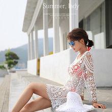 Hot Women Sexy Bikini Cover Up Lace Hollow Crochet Swimsuit Swimwear Beach Dress