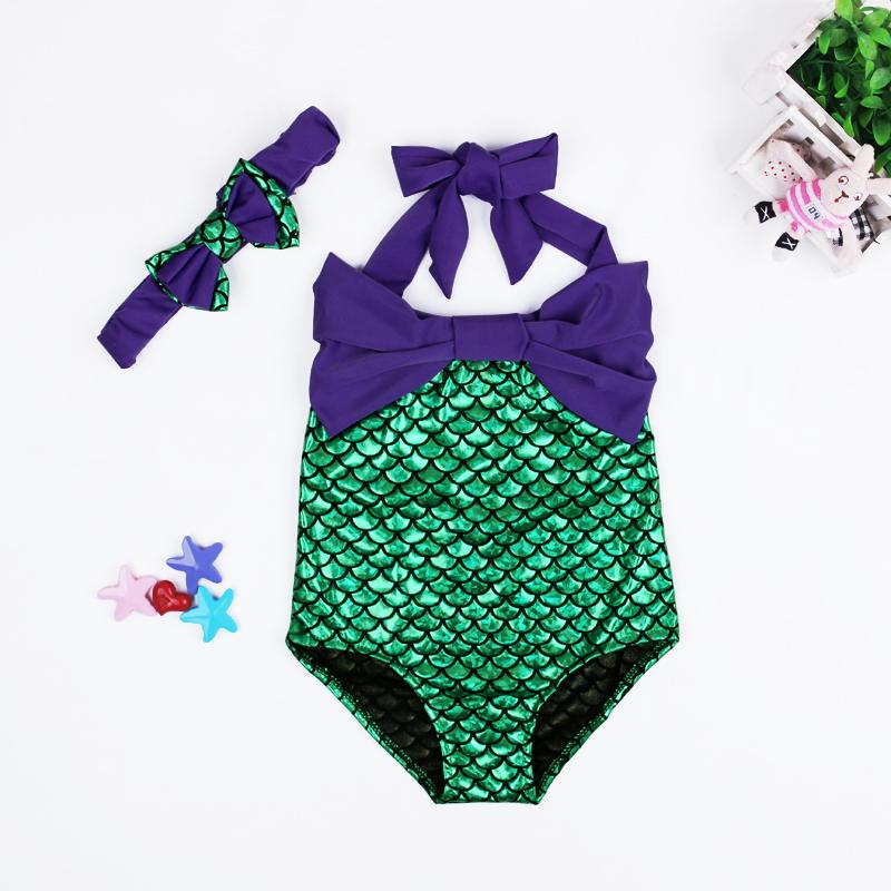 2016 HOT Lovely Girl Kids Swimmable Mermaid Tail Swimwear Children Bikini Bathing Suit Swimsuit Beach Wear Baby Swimming Costume - baby-kids store