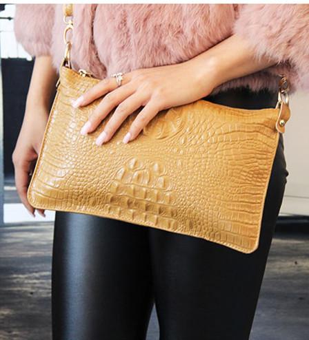Big capacity message bags! Women's Casual Crocodile Genuine Cow leather Handbag Purse Most fashion shoulder Bags 11 colors 006(China (Mainland))