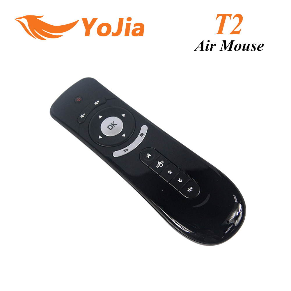 [Genuine] Gyroscope Mini Fly Air Mouse T2 2.4G Wireless Keyboard Android remote control 3D Sense Motion Stick For Smart TV(China (Mainland))