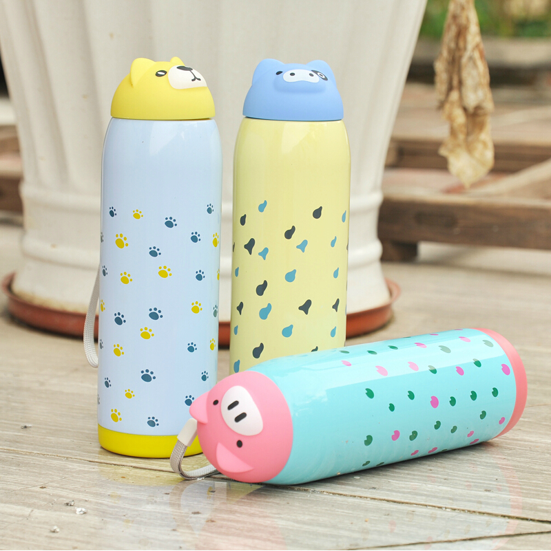 500ml Justlife Portable Animal Designed Stainless Steel Sport Water Bottle Travel Thermos Mug Vacuum Insulated Tumbler 17.6oz - GuangZhou XinQu NetWork Technology Co., Ltd store