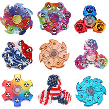 Buy New Tri-Spinner Fidget Toy Electroplated EDC Hand Spinner Anti Stress Reliever ADHD Finger Spinners Fingertrip Gyro for $1.36 in AliExpress store