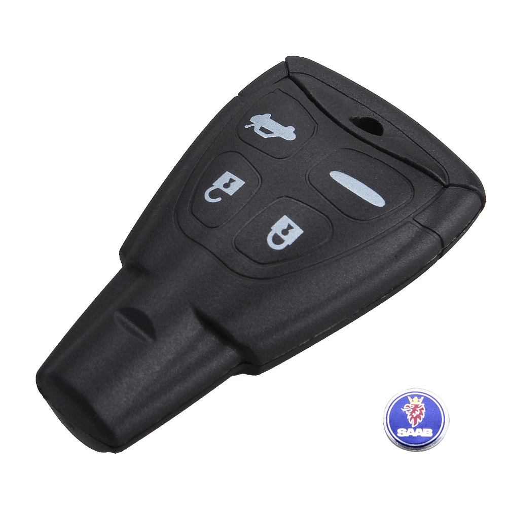 Remote Key Case Fob for SAAB 9-3 9-5 93 95 2009 Plus SAAB Smart key Shell 4 Butt(China (Mainland))