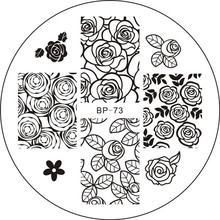 Rose Flower Nail Art Stamping Template Image Plate BORN PRETTY BP73(China (Mainland))