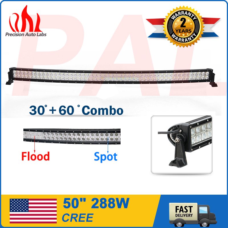 50inch288W CREE ATV LED Curved Light Bar Combo Work Offroad Driving lights 4WD(China (Mainland))