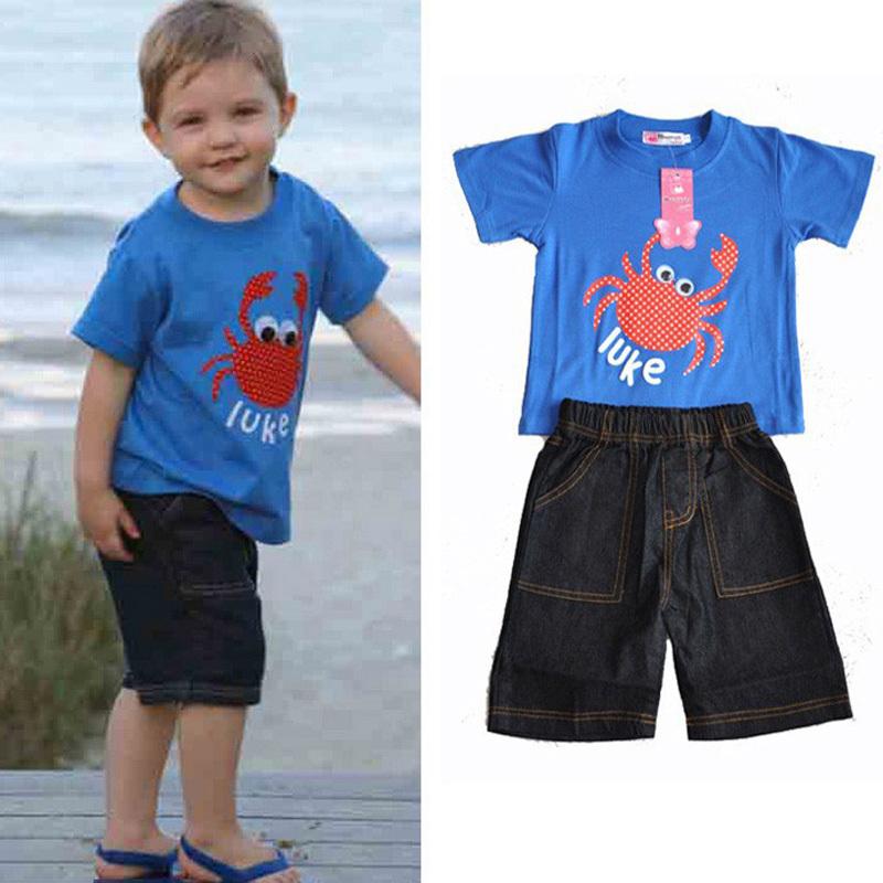 boy set new fashion 2015 summer style brand kid clothing