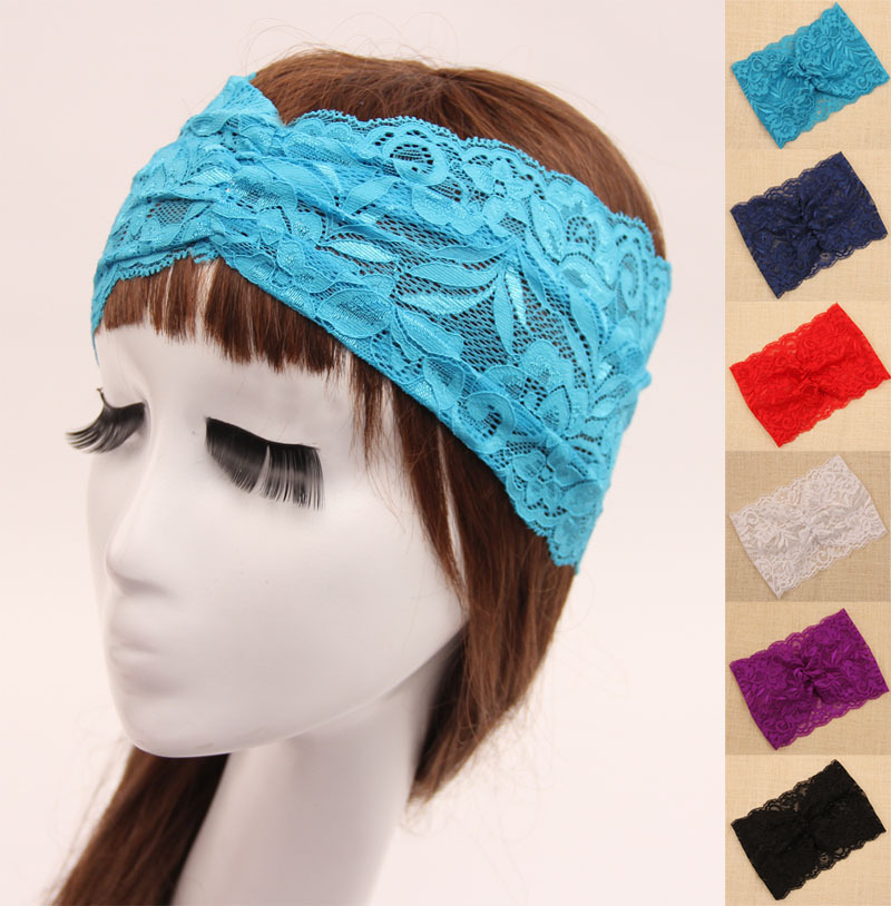 Women's Lace headband Bohemian turban lace pattern headband head wrap Fashion Accessories Tools(China (Mainland))