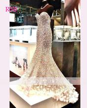 Bling Bling nuevo vestido de noche largo piso longitud de la sirena que rebordea lentejuelas Sleeveless Sweetheart  Prom Dress (China (Mainland))