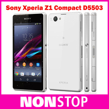 "Original Sony Xperia Z1 Compact D5503 Cell phone 3G/4G Android Quad-Core 2GB RAM 4.3"" Screen 20.7MP Camera WIFI GPS 16GB Storage(China (Mainland))"