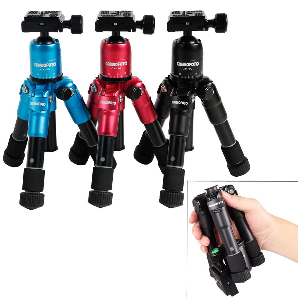 Ultra Aluminum alloy Portable Foldable Mini Tripod Compact Desktop Macro Tripod Kit with Ball Head for Canon Nikon DSLR Camera(China (Mainland))