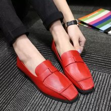 Shoes New Real Sapatilha Fashion Vintage 2015 Brief Solid Color Women's Shallow Mouth Shoes Square Flat Toe Heel Work Single