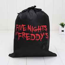 5pcs Cartoon Five Nights At Freddys Bags Children drawstring For Boys Girls School Book Bag Kids toys(China (Mainland))