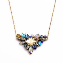 Exquisite Rhinestone Necklace 2015 Wholesale Newest Thin Chain Collar Necklace Jewelry