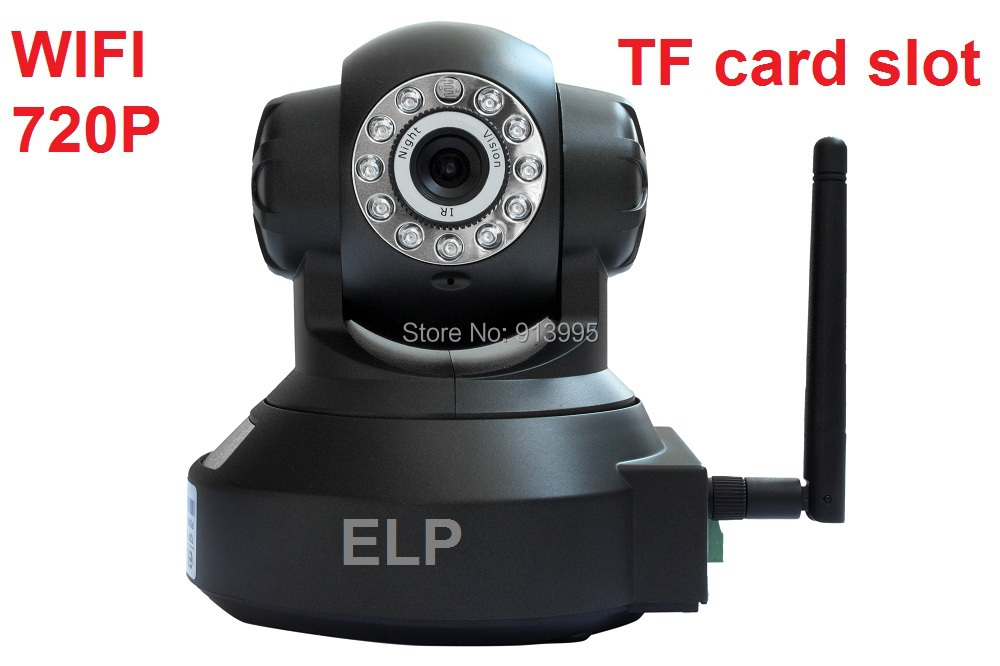 H.264 HD 720P indoor Robot Rotate wireless wide angle lens alarm siren ip camera SD/TF card with IR LED   Model: ELP-IP5110W<br><br>Aliexpress