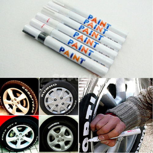 1 PC Waterproof Permanent Motorcycle Car Tyre Tread Rubber Paint Marker Pen