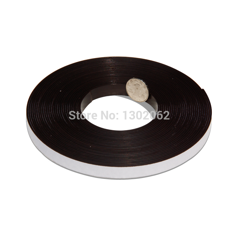 2 Meters Self Adhesive Flexible Magnetic Strip Magnet Tape Width12.7x1.5mm Ad / Teaching Rubber Magnet(China (Mainland))
