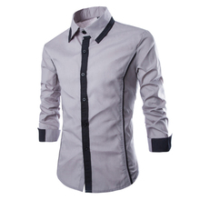 Buy 2016 New Arrival Designer Men Long Sleeve Shirts Solid Mens Fashion Casual Slim FIt Fake Tie Shirt Camisa Masculina 13M0428 for $15.69 in AliExpress store