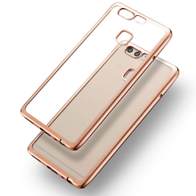 Luxury Shining Plating Case Huawei Ascend P9 / Plus Lite G9 Mini Clear Soft TPU Back Cover Protective Cases - SGP Hybrid Official Store store