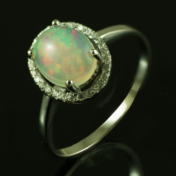 Feelcolor Genuine Mined Multi Color Flash White Australian Genuine Fire Opal Oval 7X9mm 925 Solid Sterling Silver Ring(China (Mainland))