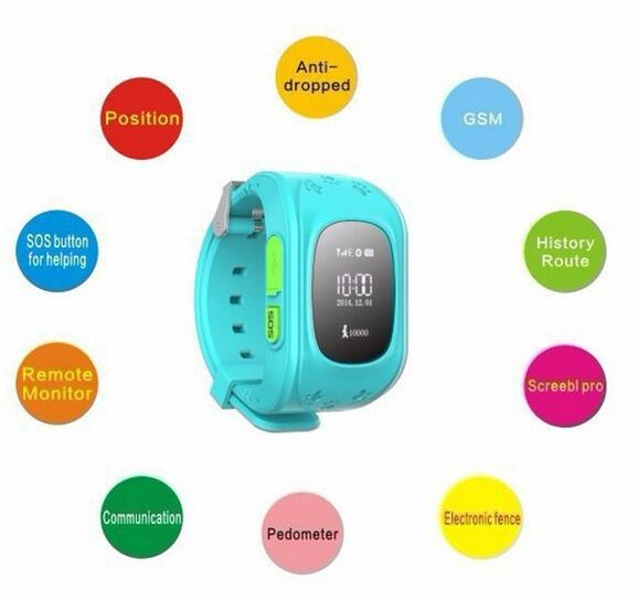 New Sim card Mini GPS Tracker children Smart Watch Double Locate Remote Satellite monitoring Monitor For children(China (Mainland))