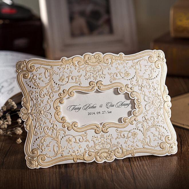 Vintage Garden Party Laser Cut Wedding Invitation - Hot ...