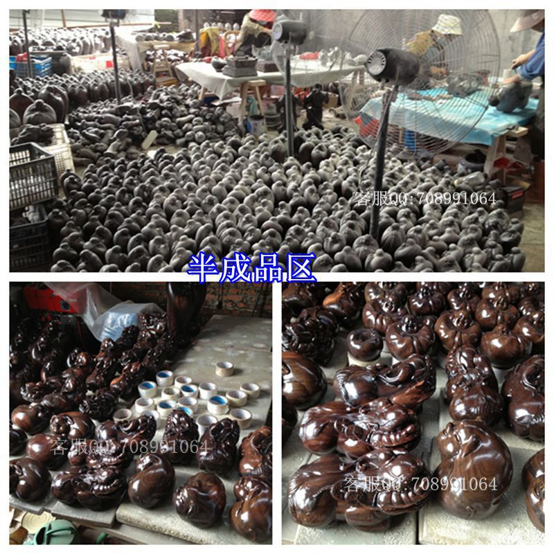 Buy 80-150CM grass pear upright logs knife ebony statue of Guan Gong Wu Fortuna like wholesale cheap