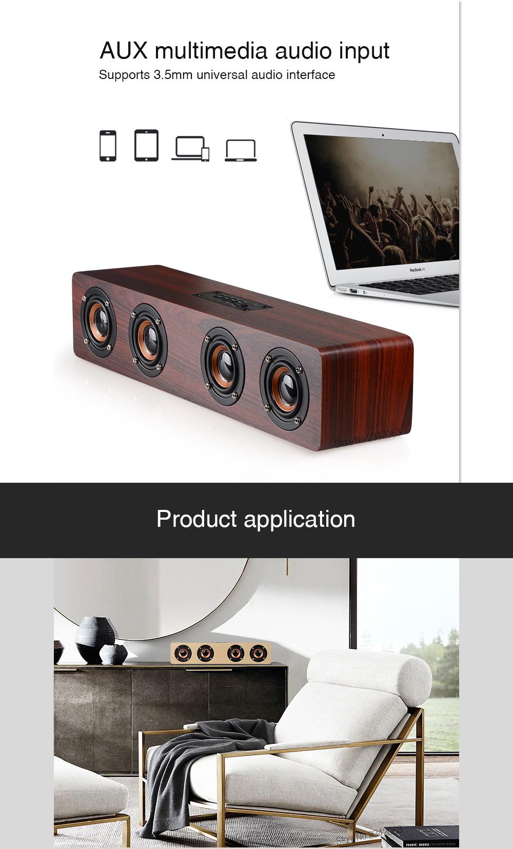 SADA 2017 Retro Wood Wireless Bluetooth Speaker Portable Speaker MP3 Computer Speakers Box 3D Loudspeakers USB Charging enceinte