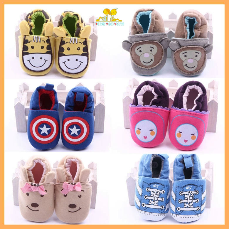 Many designs cheap soft sole infant baby cotton shoes(China (Mainland))