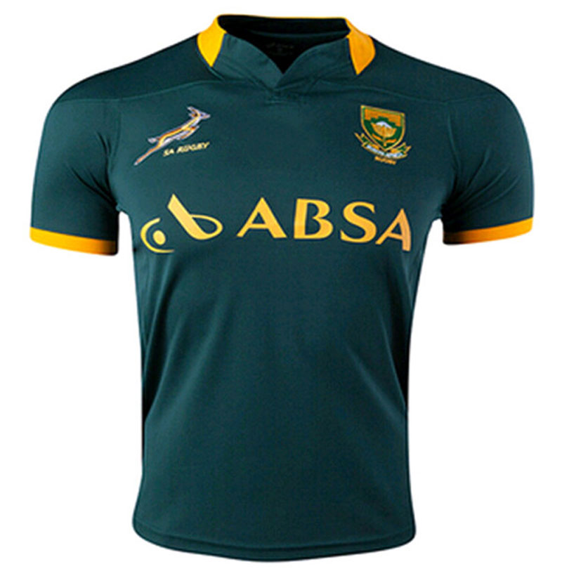 Top thailand quality 2014 2015 South Africa rugby jerseys 2015 rugby tshirts size from S M L XL(China (Mainland))