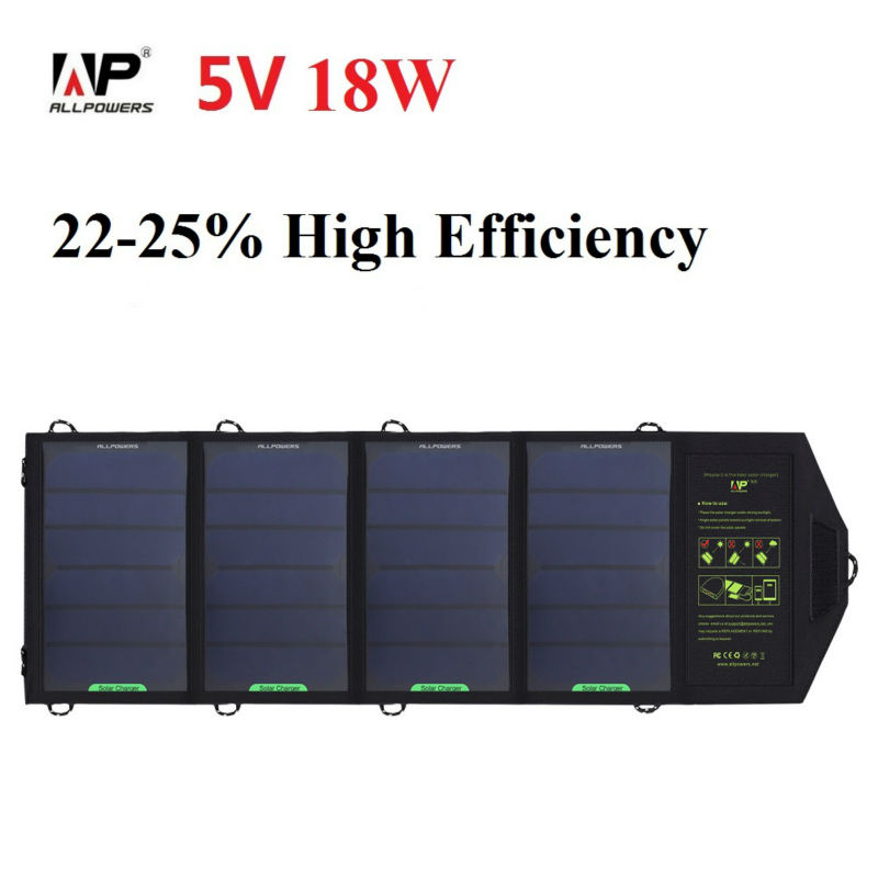 ALLPOWERS 18W 5V Solar Panel Charger for Cell Phone , Other Smartphones and Tablets(China (Mainland))