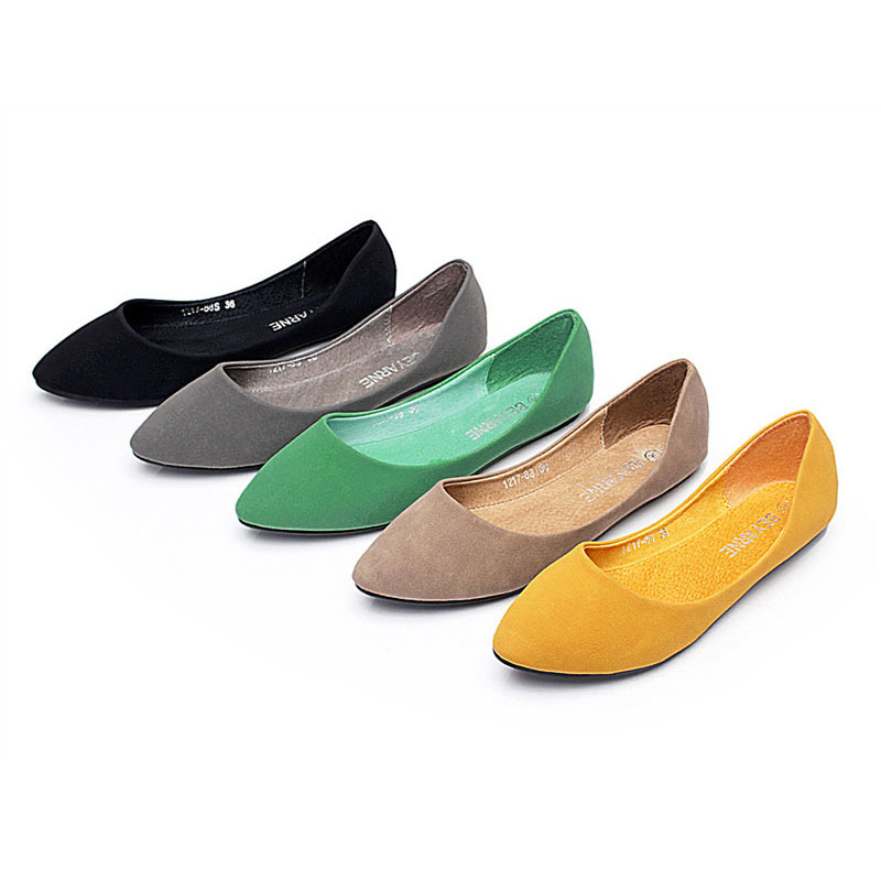 2015 new arrival fall flat heel shoes comfortably