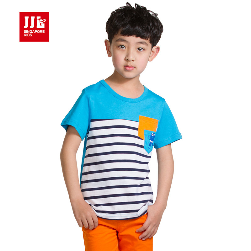 kids t shirt boys tees size 4-11t kids clothes summer short sleeve children tshirts fee shipping china retail clothes(China (Mainland))