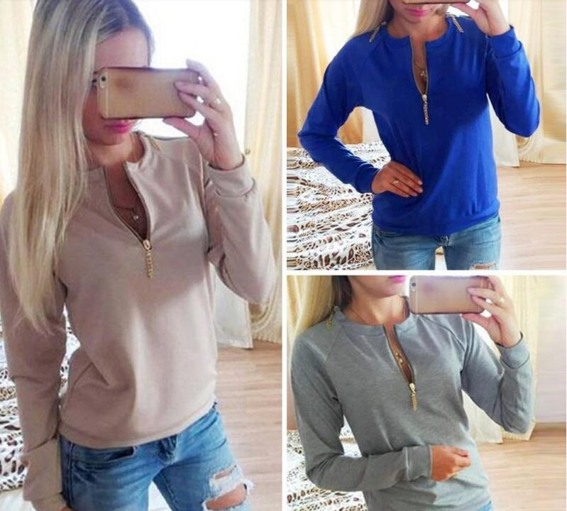 New fashion candy color Exquisite womens Round Neck Long Sleeve Hoodie Sweatshirt Women Winter Jumper Pullover Tops(China (Mainland))