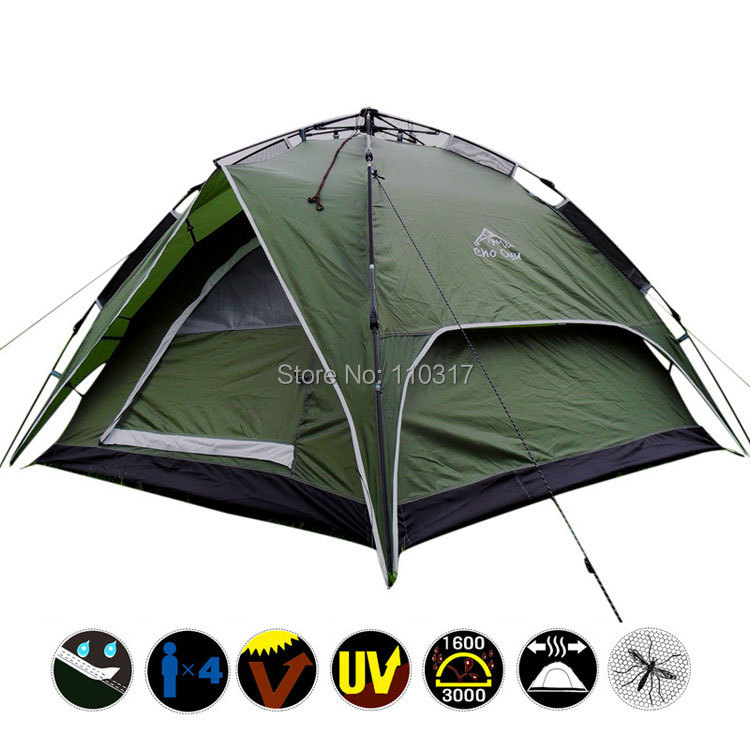 Some Free DHL, Outdoor Automatic Military Tent Waterproof Double layer 4 Person Instant Camping Family S0057 <br><br>Aliexpress