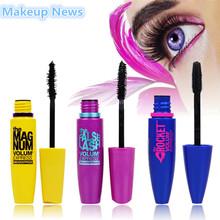 Hot 3 unids/lote marca cosmética Waterproof Mascara FIBER pestañas rimel colosal negro volumen exprés de maquillaje para ojos(China (Mainland))