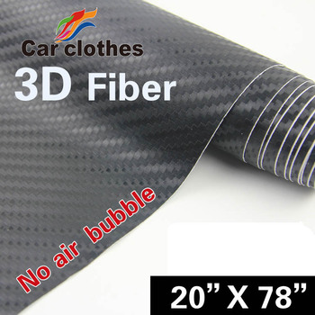 Hot Selling 50*200cm Auto Vinyl 3D Carbon fiber vinyl film car sticker wrap with free shipping