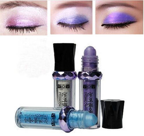 diamond bright colorful Fluorescence shine gloss mineral eyeshadow powder pencil, ball eyeshadow powder 11(China (Mainland))