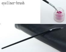 1PC Free Shipping Professional Make Up Gel Eye Liner Eyeliner Elbowed Brush Cosmetic Makeup Eye Brushes Wholesale(China (Mainland))