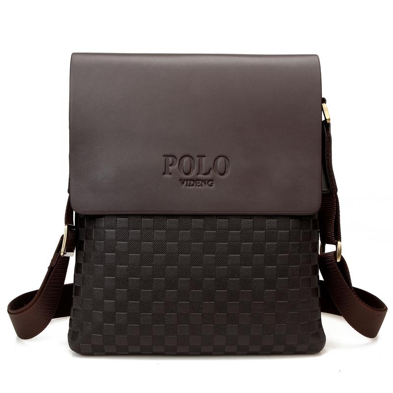 new 2015 fashion polo men bags,men's  leather messenger bag,Plaid Casual  leather bag,man brand Business shoulder bag Z70(China (Mainland))