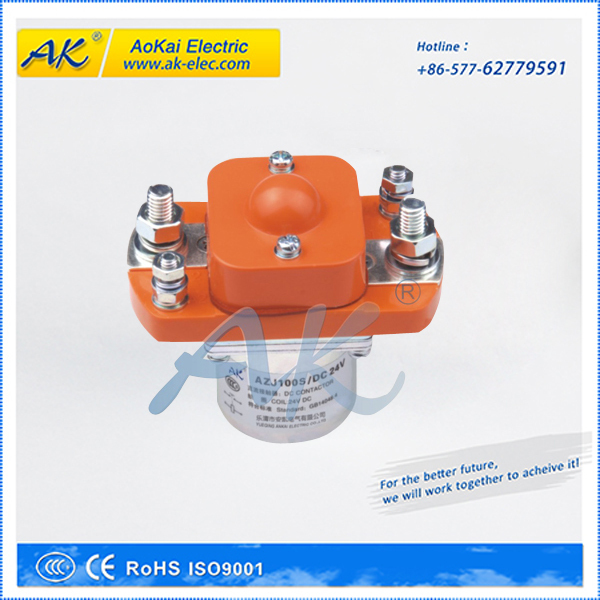 AZJ100 Single Coil Used in Electric Forklift Trucks Solenoid Contactor 24V DC Contactor(China (Mainland))