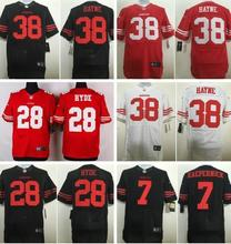 Wholesale 2016 San Francisco 49ers Colin Kaepernick Carlos Hyde Jarryd Hayne NaVorro Bowman Joe Montana , 100% Stitched Logo(China (Mainland))