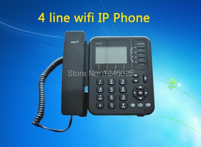 Free shipping Wifi voip phone, 4 line ip phone with RJ45, Skype sip phone Wifi ip telefone(China (Mainland))