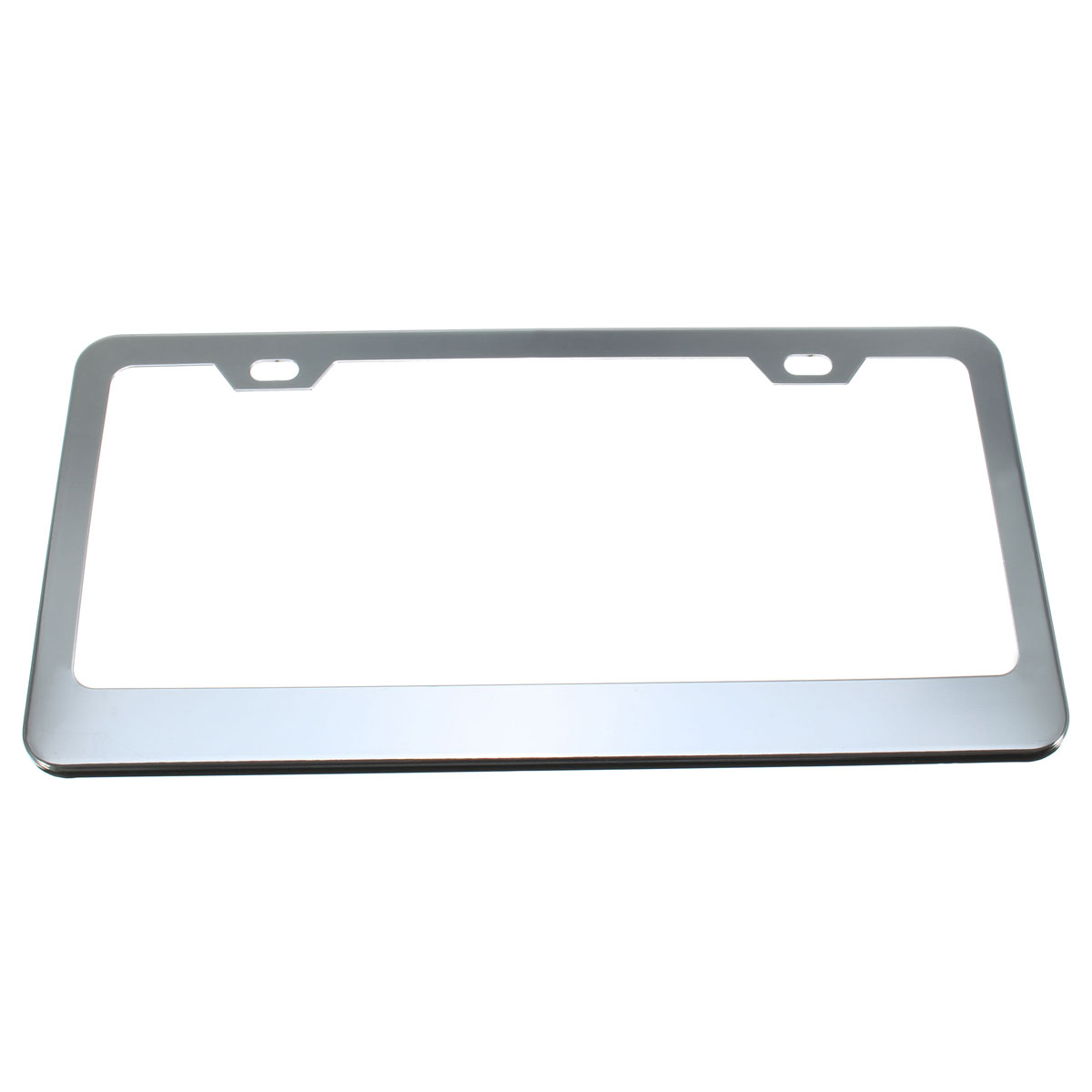 1X SCREW CAPS TAG COVER +CAR STYLING SLIVER STAINLESS STEEL METAL LICENSE PLATE FRAME(China (Mainland))