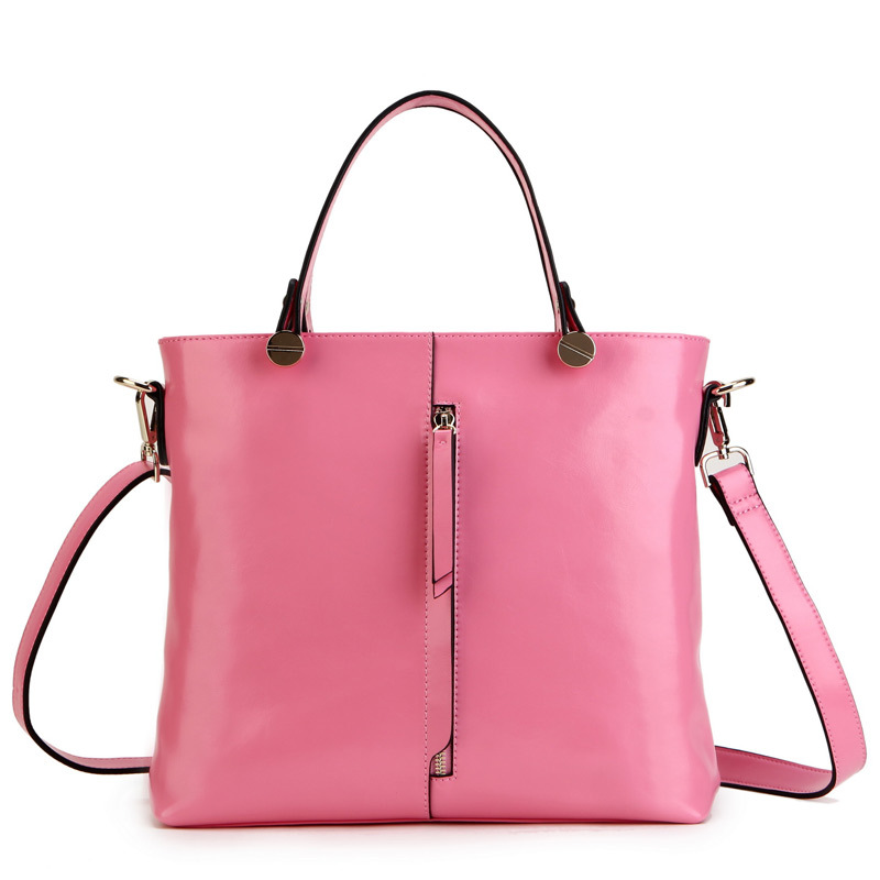 2015 Candy Color Womens Genuine Leather Handbags Fashion Female Korean Solid One Shoulder Bags<br><br>Aliexpress