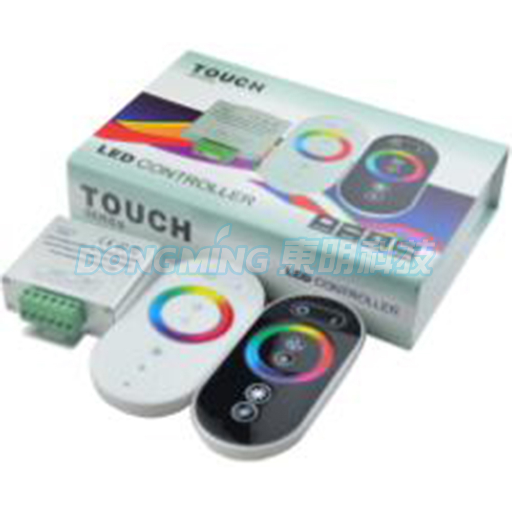 New style 7pcs/lot RGB Touch controller DC12V 216W Wireless LED RGB Controller Panel LED rf touch Remote controller(China (Mainland))
