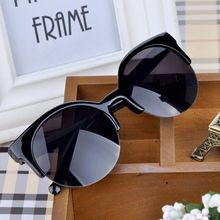 2015 Vintage Semi Rimless UV 400 Protection Glasses Cat Eye Sunglasses Women Glasses Eyewear PMPJ093 53